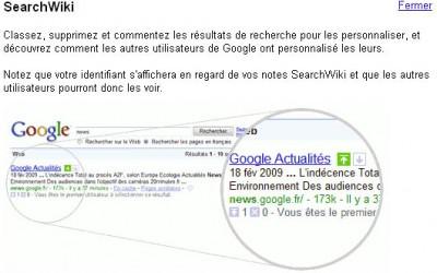 La recherche personnalisée s'incruste sur Google.fr